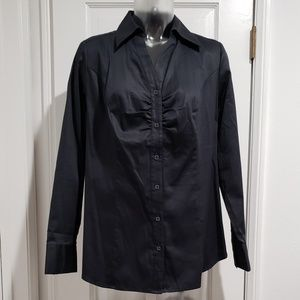 Lane Bryant Rusched Front Cotton Blouse
